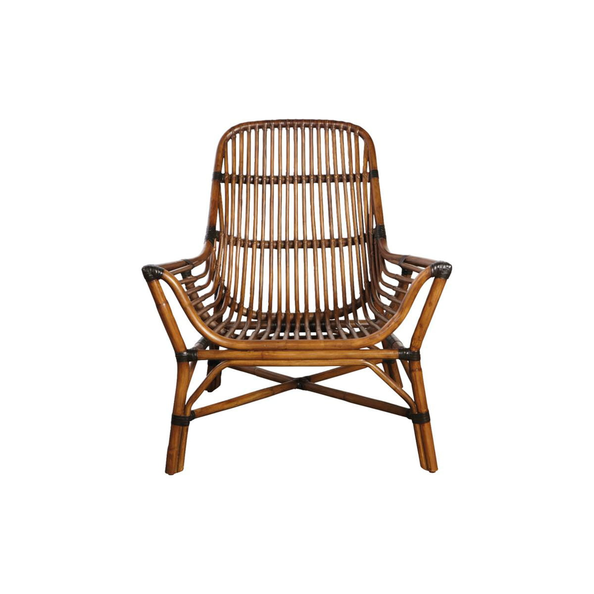 House Doctor Colony Lounge Chair Rattan braun
