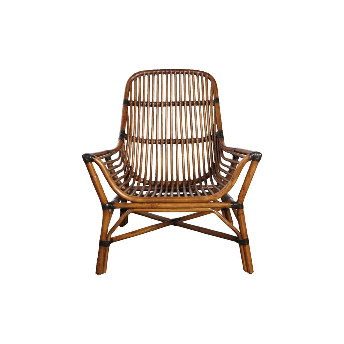House Doctor Colony Lounge Chair Rattan braun