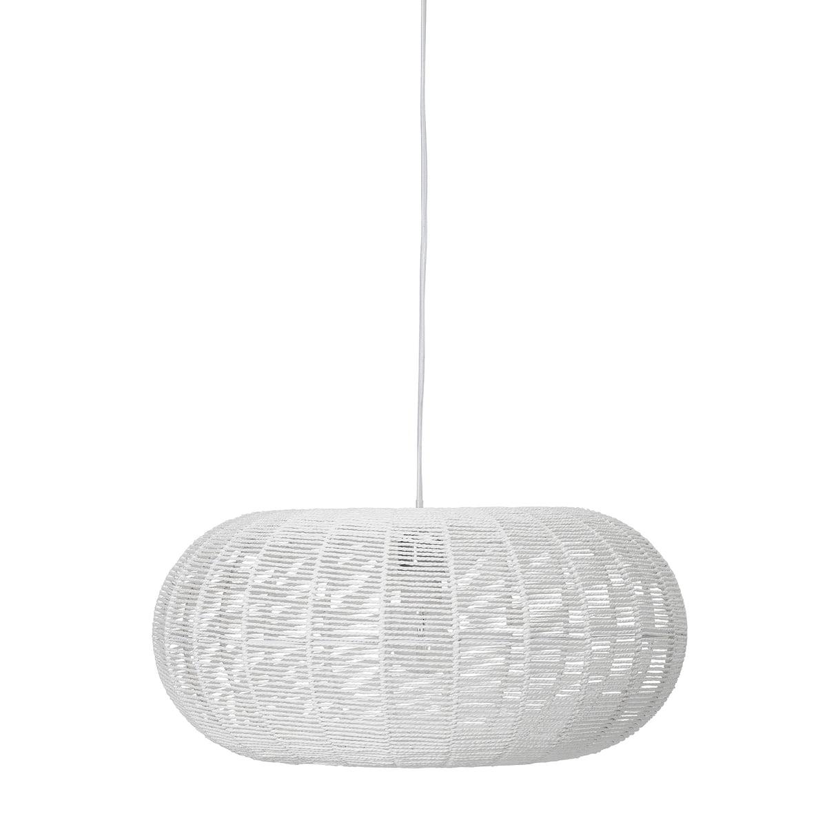 Bloomingville - Pendelleuchte aus Papier, Ø 50 x H 23 cm, weiß