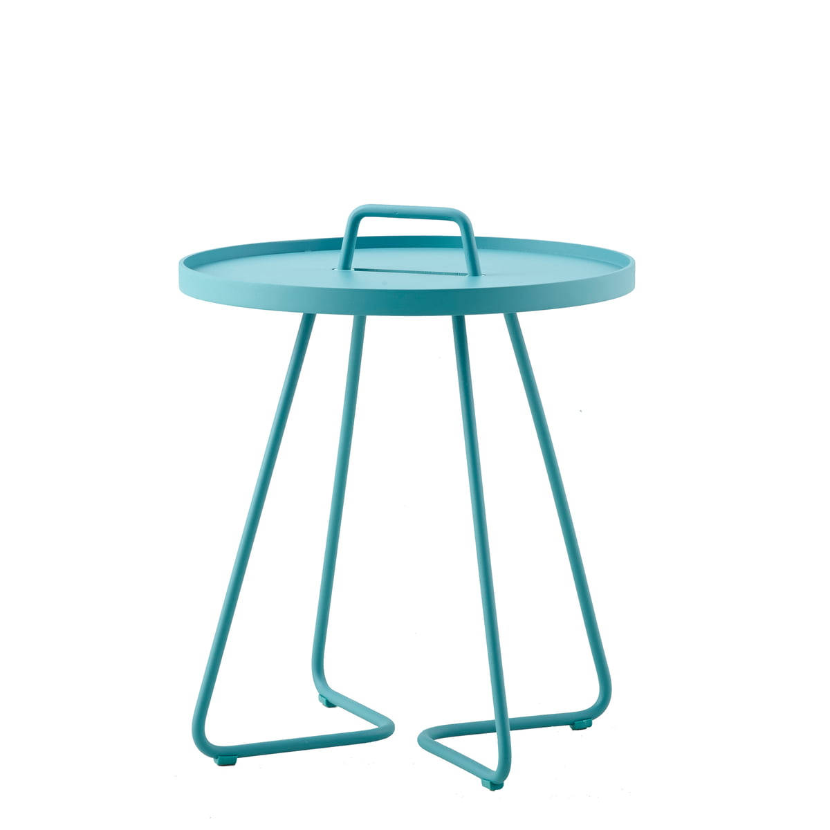 Cane-line - On-the-move Beistelltisch, Ø 44 x H 52 cm, aqua