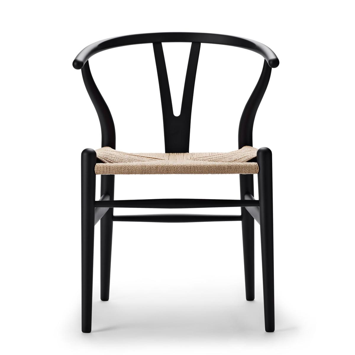 Carl Hansen - CH24 Wishbone Chair, soft black / Naturgeflecht (Limited Edition)