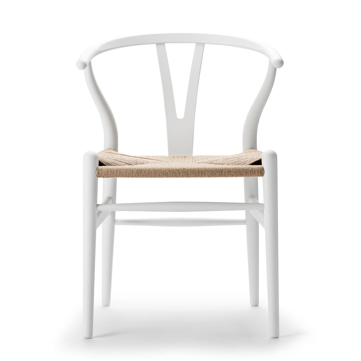 Carl Hansen - CH24 Wishbone Chair, soft white / Naturgeflecht (Limited Edition)