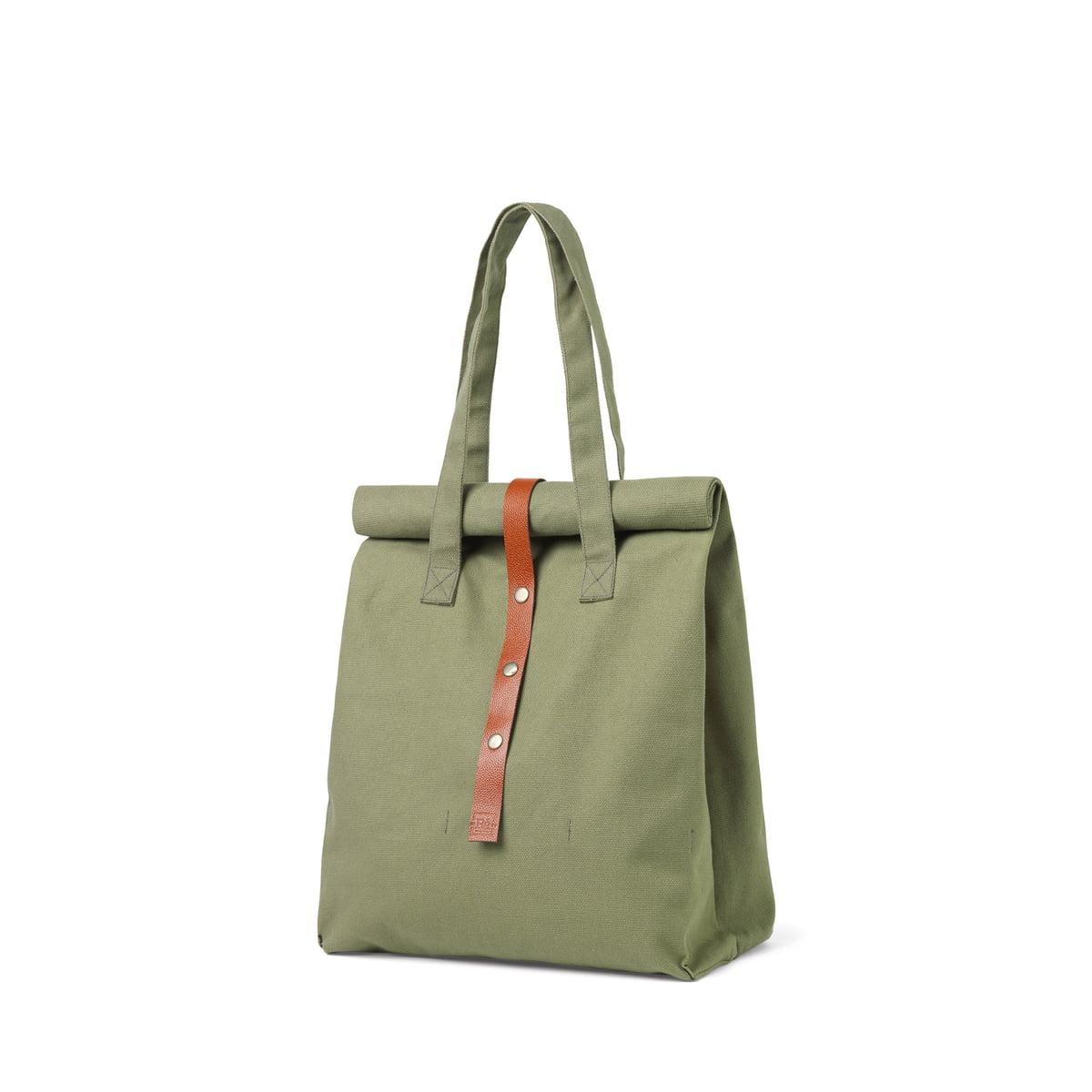 Juna - Rå Picknick Tasche, H 43 cm, moosgrün