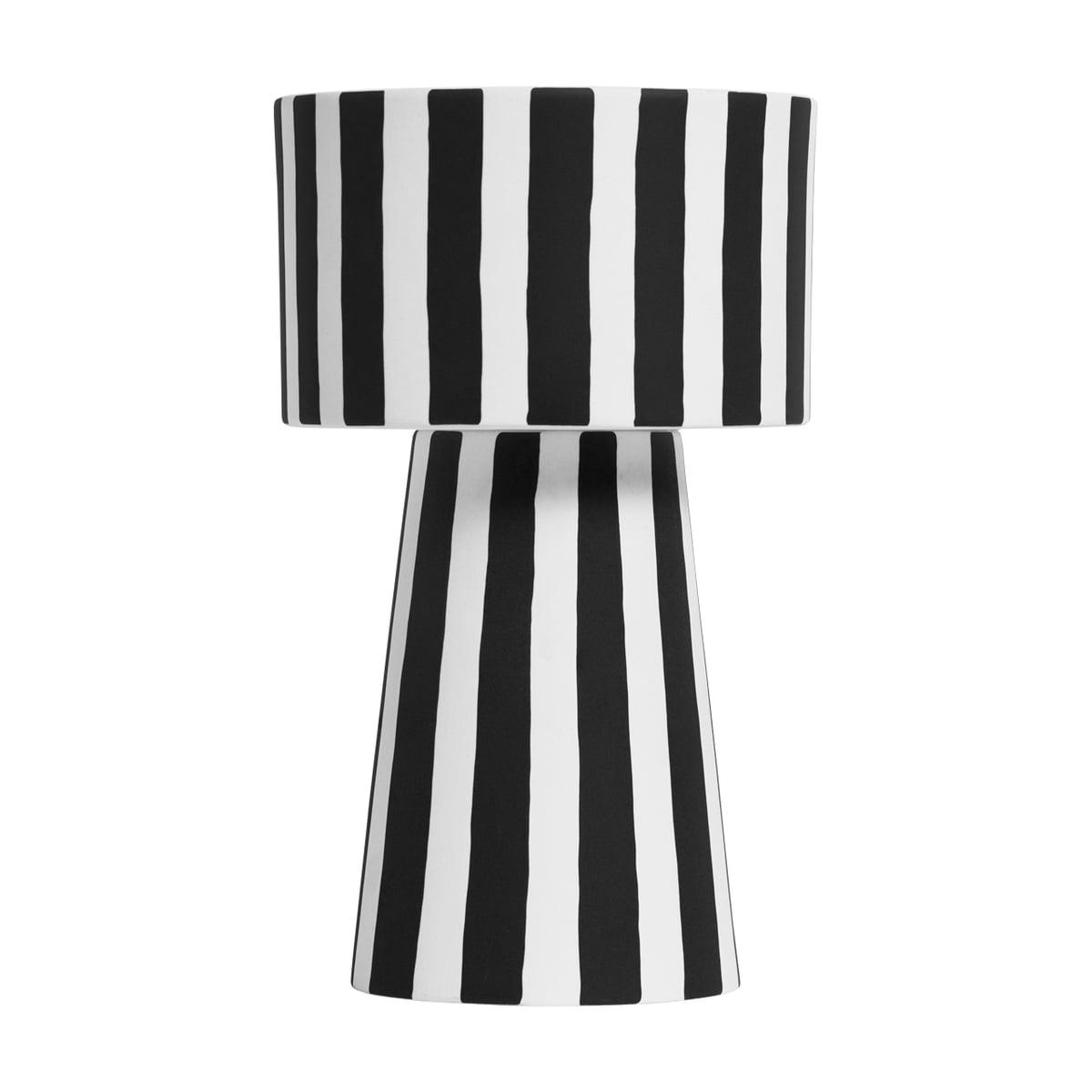 OYOY - Toppu Übertopf Ø 15 x H 24 cm, schwarz / weiß