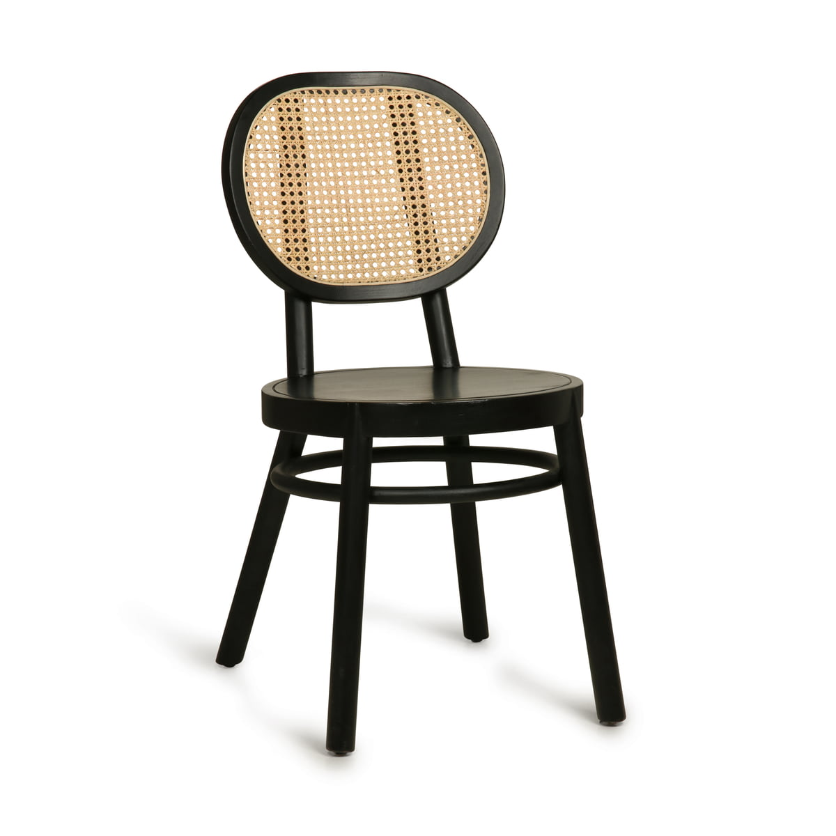 HKliving - Retro Webbing Stuhl mit Geflecht, schwarz