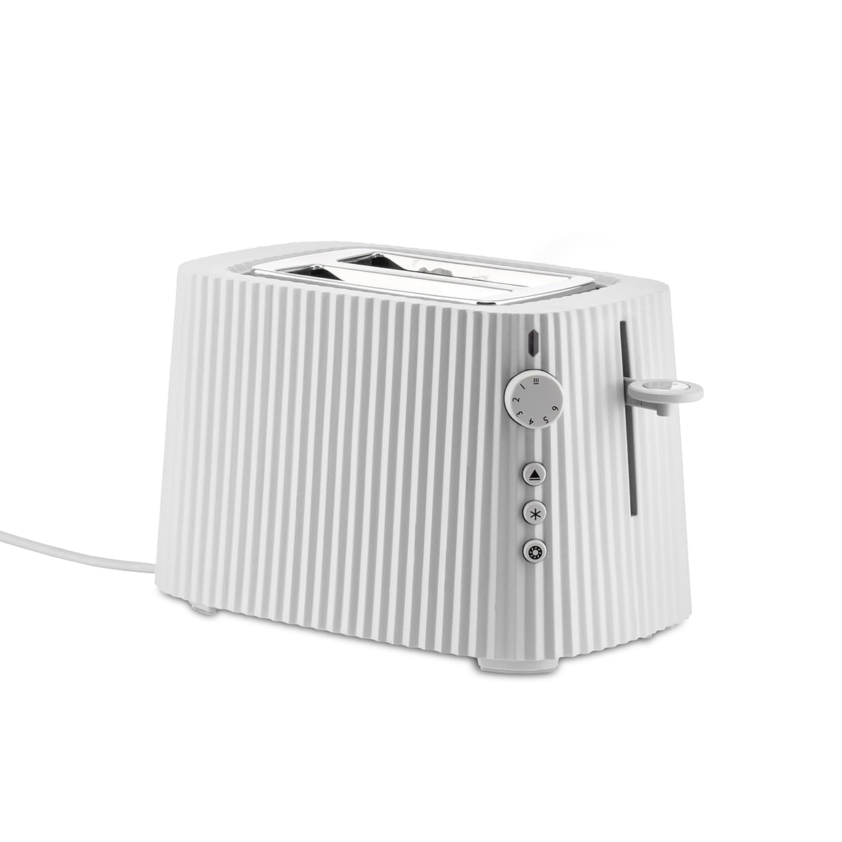 Alessi - Plissé Toaster, weiß