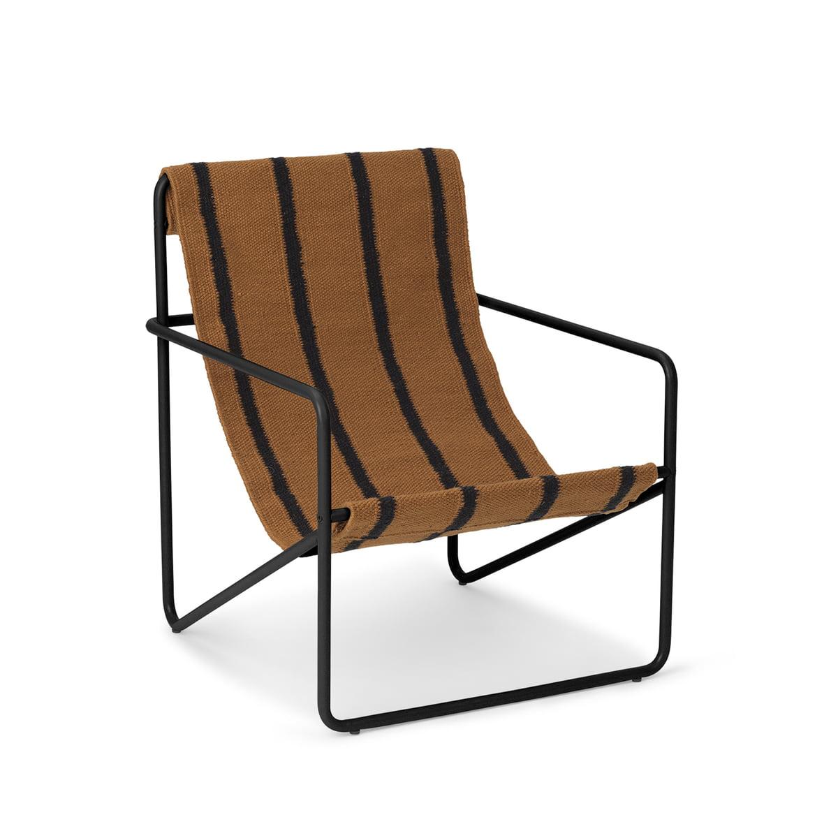 ferm LIVING - Desert Chair Kids, schwarz / stripe günstig online kaufen