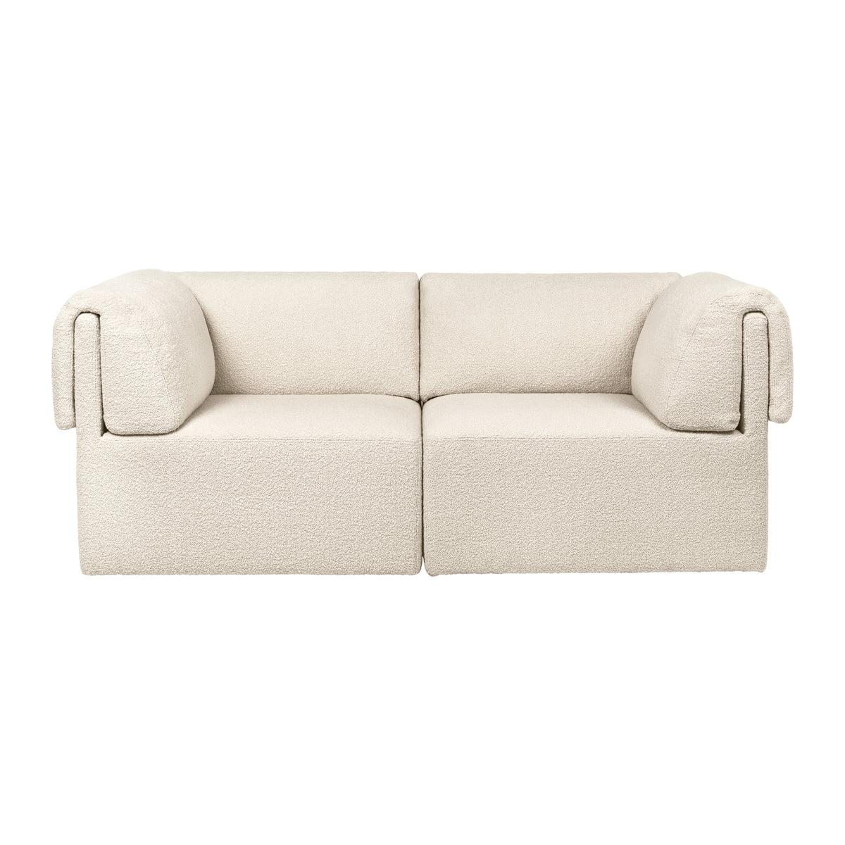Gubi - Wonder Sofa, 2-Sitzer, Karakorum 001 créme
