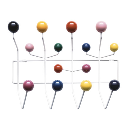 The multicoloured Eames 'Hang it all' wardrobe by Vitra