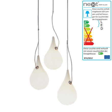 Drop_2xs 3er LED Pendelleuchte von Next Home