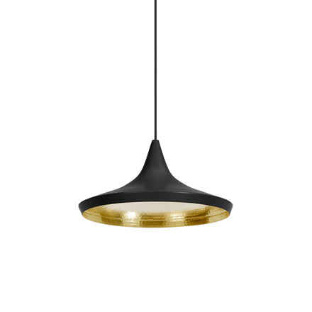 Tom Dixon - Beat Light Wide Pendelleuchte in Schwarz