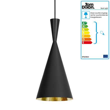 Tom Dixon - Beat Light Tall Pendelleuchte in Schwarz