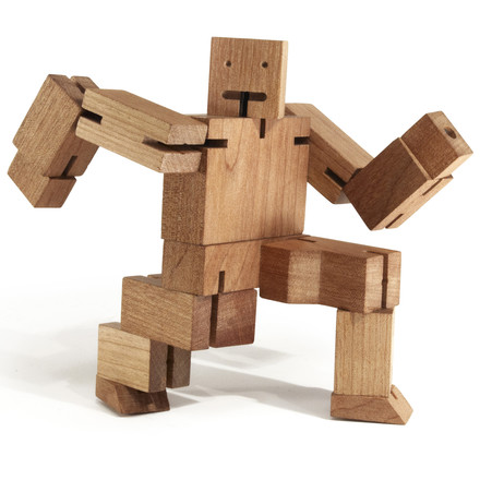 cubebot in kniender Position