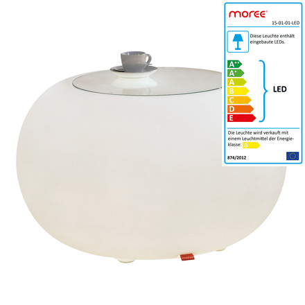 Moree - Bubble Indoor LED - Beistelltisch mit Glasplatte