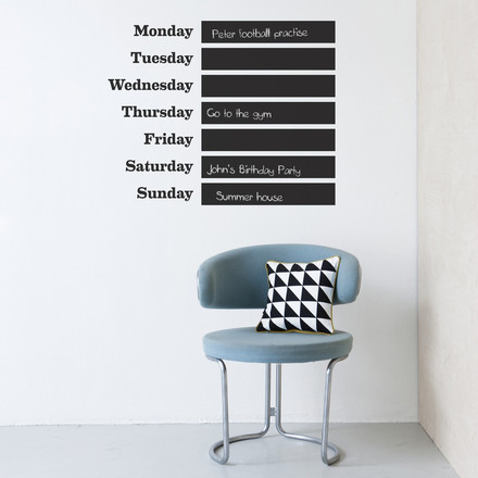 ferm Living - Wandsticker This Week
