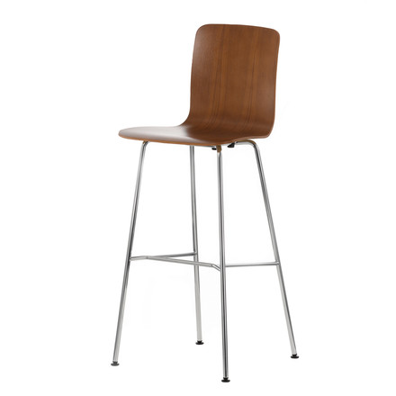 Vitra - Hal Ply Stool high, Nussbaum