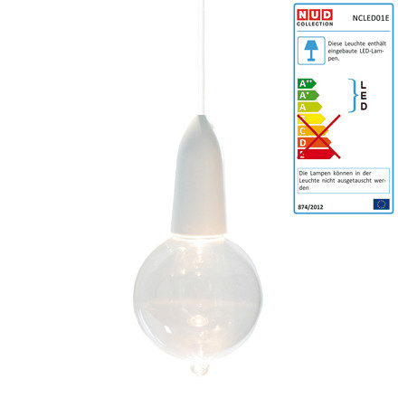 NUD Collection - LED IW Clear with Hook, weiß (TT-01)