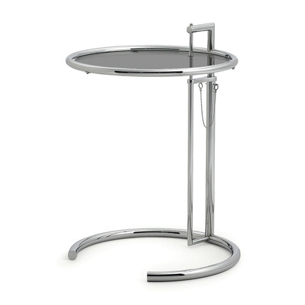 ClassiCon - Adjustable Table E1027, Rauchglas