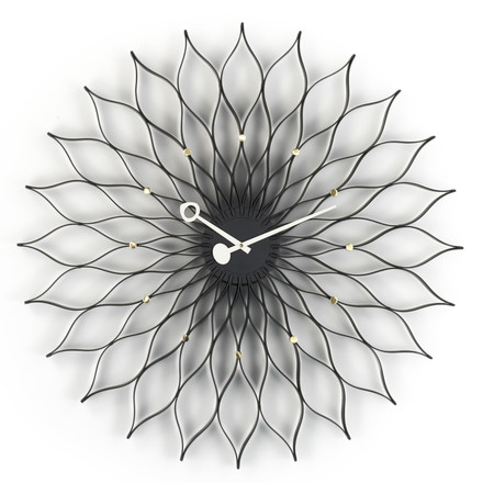 Vitra - Sunflower Clock, schwarz/ messing