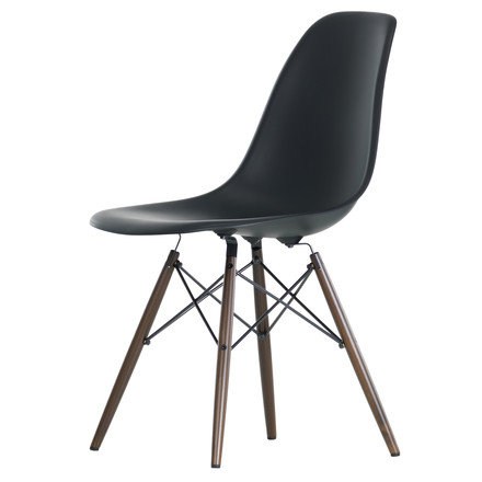 Vitra - Eames Plastic Side Chair DSW, Ahorn dunkel / basic dark