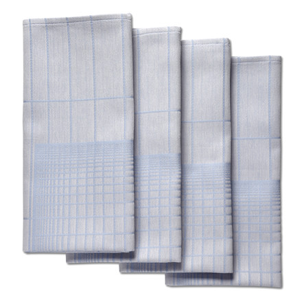 Hay - S&B Napkin Double Grid, blau - 4er-Set