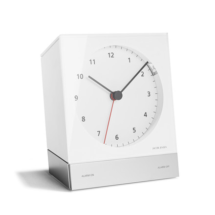 Jacob Jensen - Alarm Clock Series Quartz 342, weiß