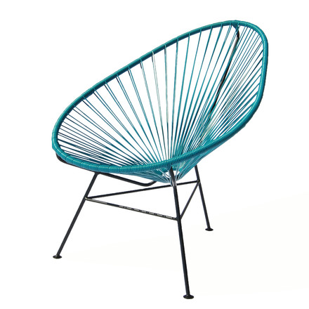OK Design - The Acapulco Chair, petroleum blau