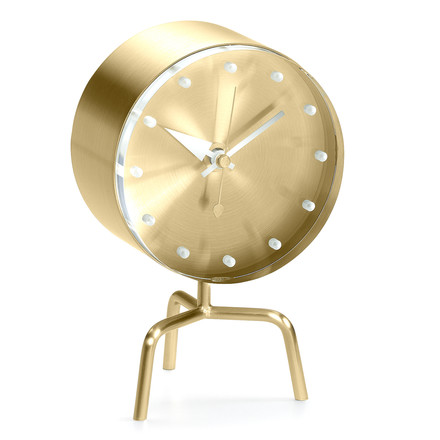 Vitra - Tripod Clock aus Messing
