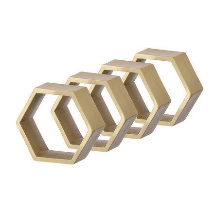 Ferm Living - Hexagon Serviettenringe, 4er-Set