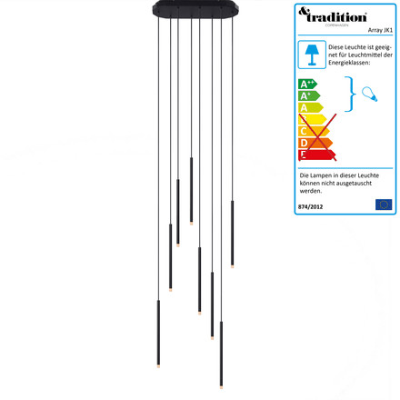 Array Pendelleuchte JK1 LED von &Tradition in schwarz