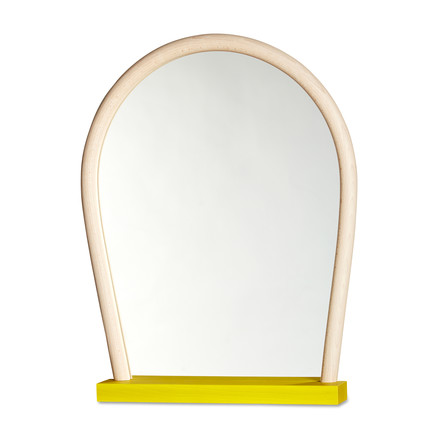 Hay - Bent Wood Mirror, gelb / Buche