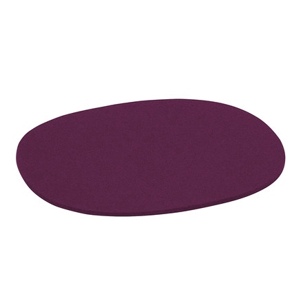 Hey Sign - Filz-Auflage Eames Plastic Side Chair, Aubergine, 5mm