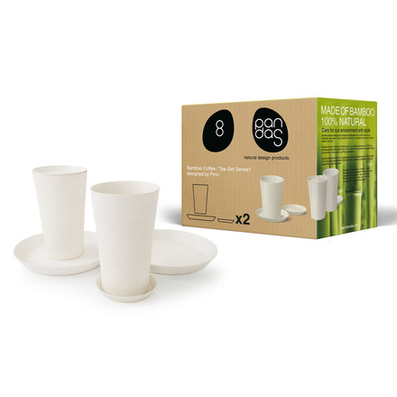 8pandas - Kaffee / Tee-Set 6 Teile, natural