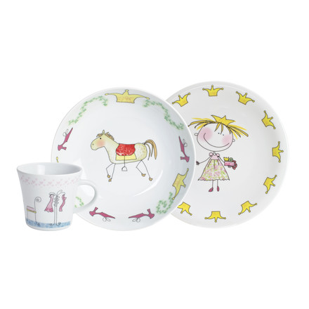 Kahla - Magic Grip Kinderset, 3-teilig, Märchenprinzessin