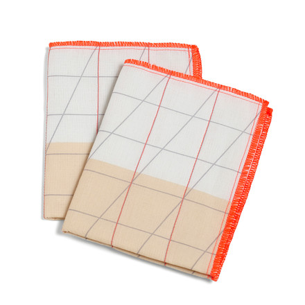 Hay - S&B Colour Cloth Geschirrtuch, 2er-Set, orange