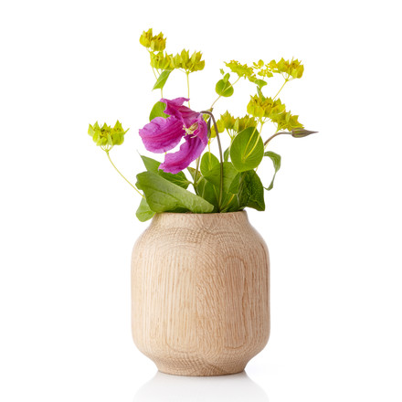 Applictata - Poppy Vase small, Eiche, Blumen