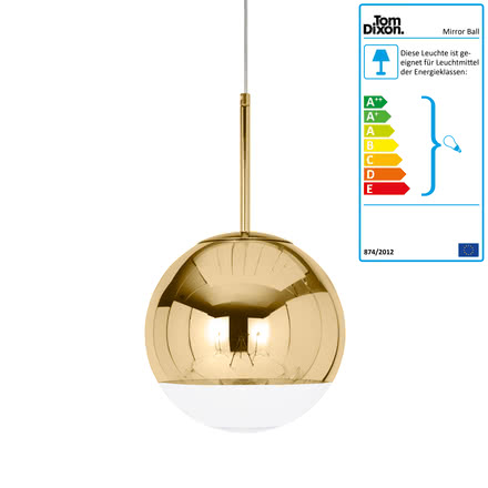 Tom Dixon - Mini Mirror Ball Gold Pendelleuchte Ø 25 cm