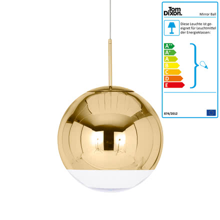 Tom Dixon - Mirror Ball Gold Pendelleuchte Ø 40 cm