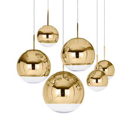 Tom Dixon - Mirror Ball Gold Pendelleuchten