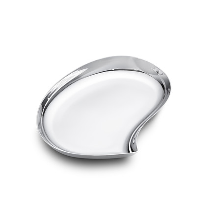 Georg Jensen - Bloom Tablett, medium, Edelstahl
