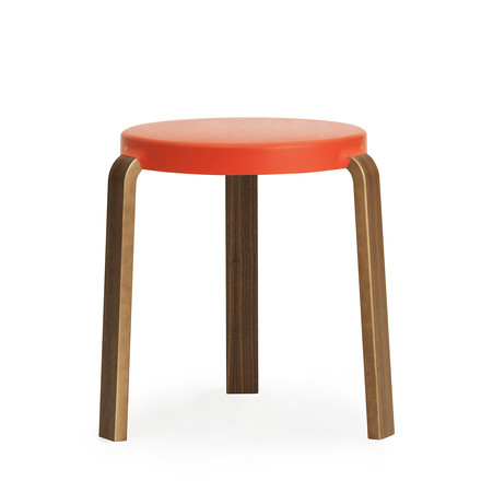 Normann Copenhagen - Tap Hocker, Nussbaum / spicy orange