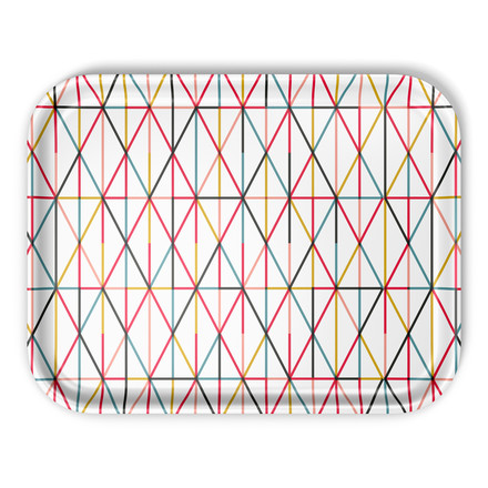 Vitra - Classic Tray large, Grid multicolour