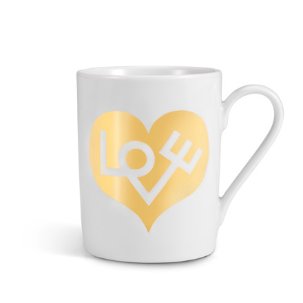 Vitra - Coffee Mug, Love Heart gold