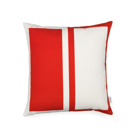 Vitra - Graphic Print Pillow - Rectangles / Circle 40 x 40 cm, rot / blau, rote Seite
