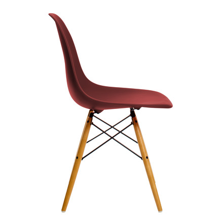 Vitra - Eames Plastic Side Chair DSW, Ahorn gelblich / oxidrot