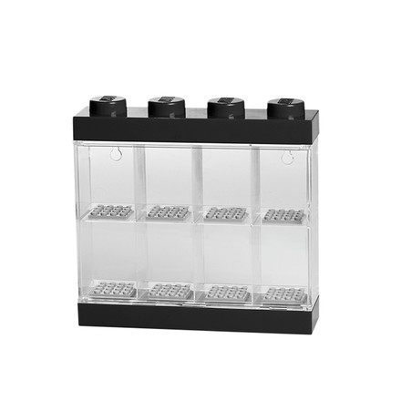Lego - Storage Box & Minifigure Display Case 8, schwarz