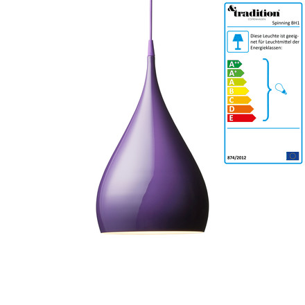 &Tradition - Spinning Light BH1 Pendelleuchte, violett