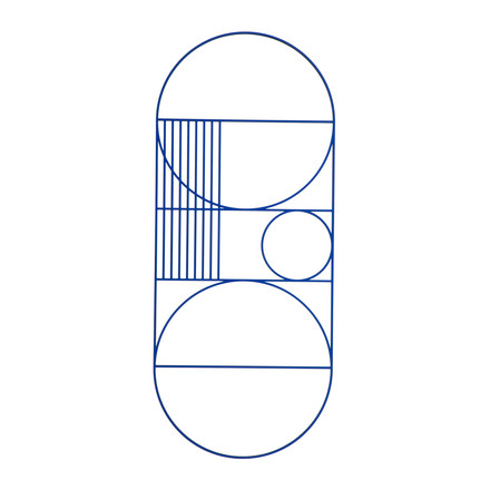 Outline Wanddekoration oval von ferm Living in Blau