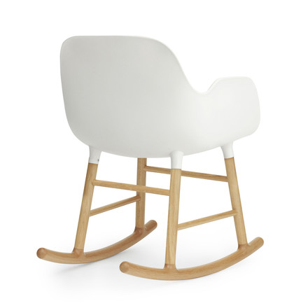 Form Rocking Armchair von Normann Copenhagen aus Eiche in Weiß
