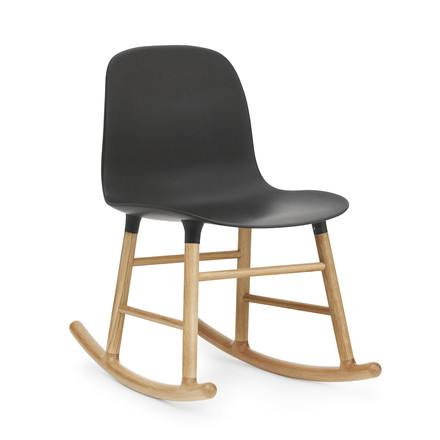 Form Rocking Chair von Normann Copenhagen aus Eiche in Schwarz